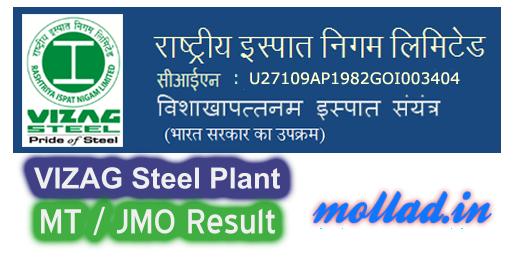 VIZAG Steel MT Result