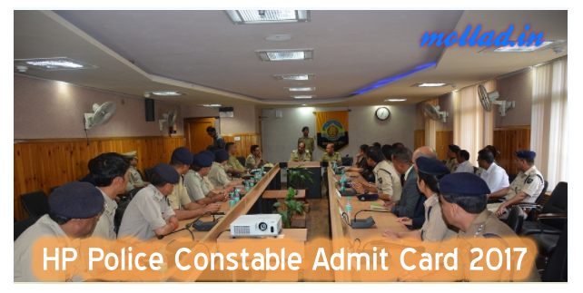 HP Police Constable Admit Card 2017