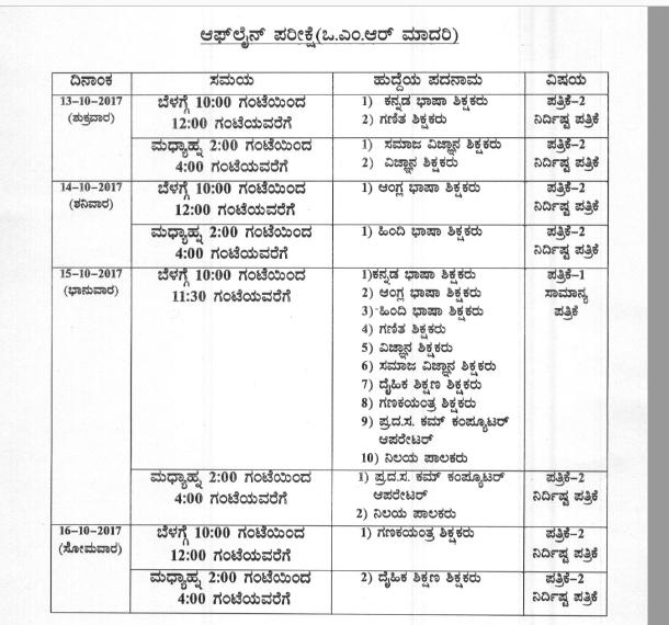 kpsc kreis exam schedule