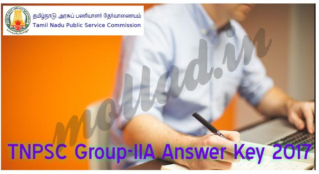 tnpsc group iia answer key