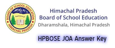 HPBOSE JOA Answer Key