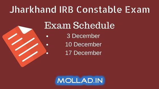 jssc irb admit card jharkhand irb constable exam