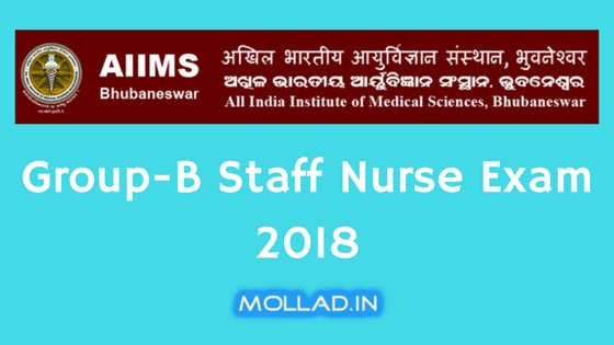 AIIMS Bhubaneswar Group B Staff Nurse Exam