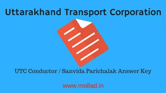 UTC Conductor Answer Key