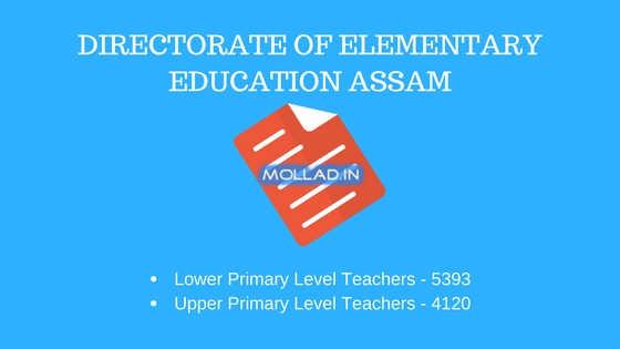 DEE Assam LP UP Recruitment