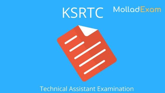 ksrtc exam call letter technical Asisstant Exam