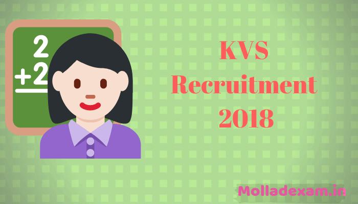 KVS Admit Card 2018 Check Primary Teacher PRT TGT PGT Written Exam date Released 1