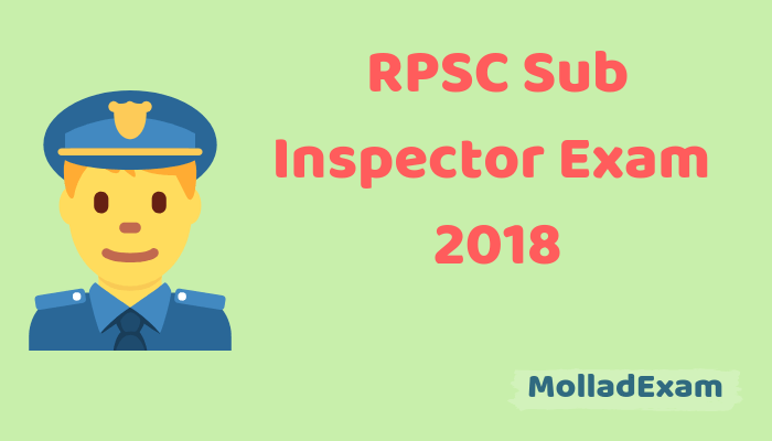 RPSC SI Answer Key 2018 Get Rajasthan Police Sub Inspector 7th Oct Answer Key Paper Solution 1
