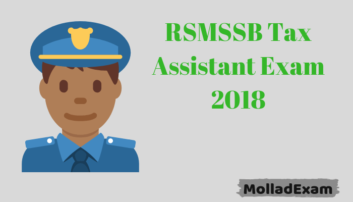 RSMSSB Tax Assistant Admit Card 2018 Download Now Exam date Released 1